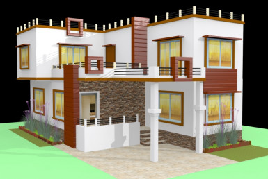 3D Layout of Ambar III - 3 BHK Villa For Sale