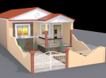 Row House For Sale in Ratnagiri - 3D Layout